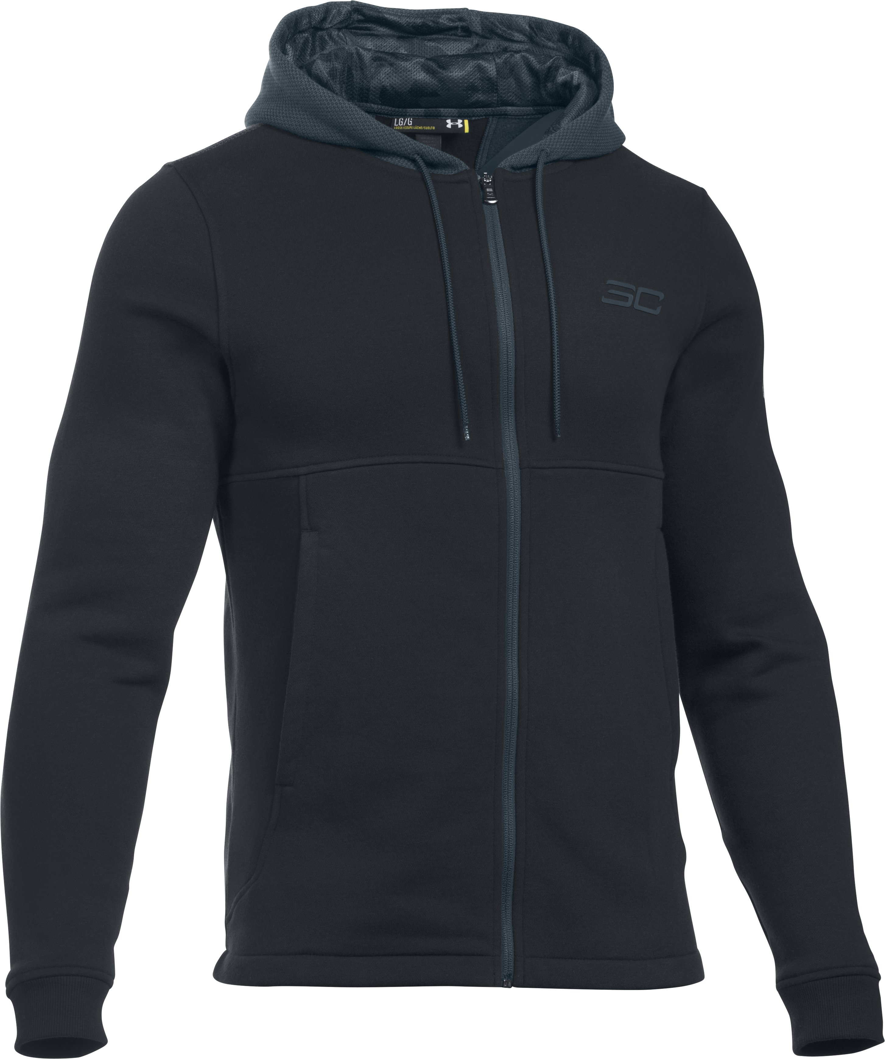 Men's SC30 Essentials Full Zip Hoodie, Black