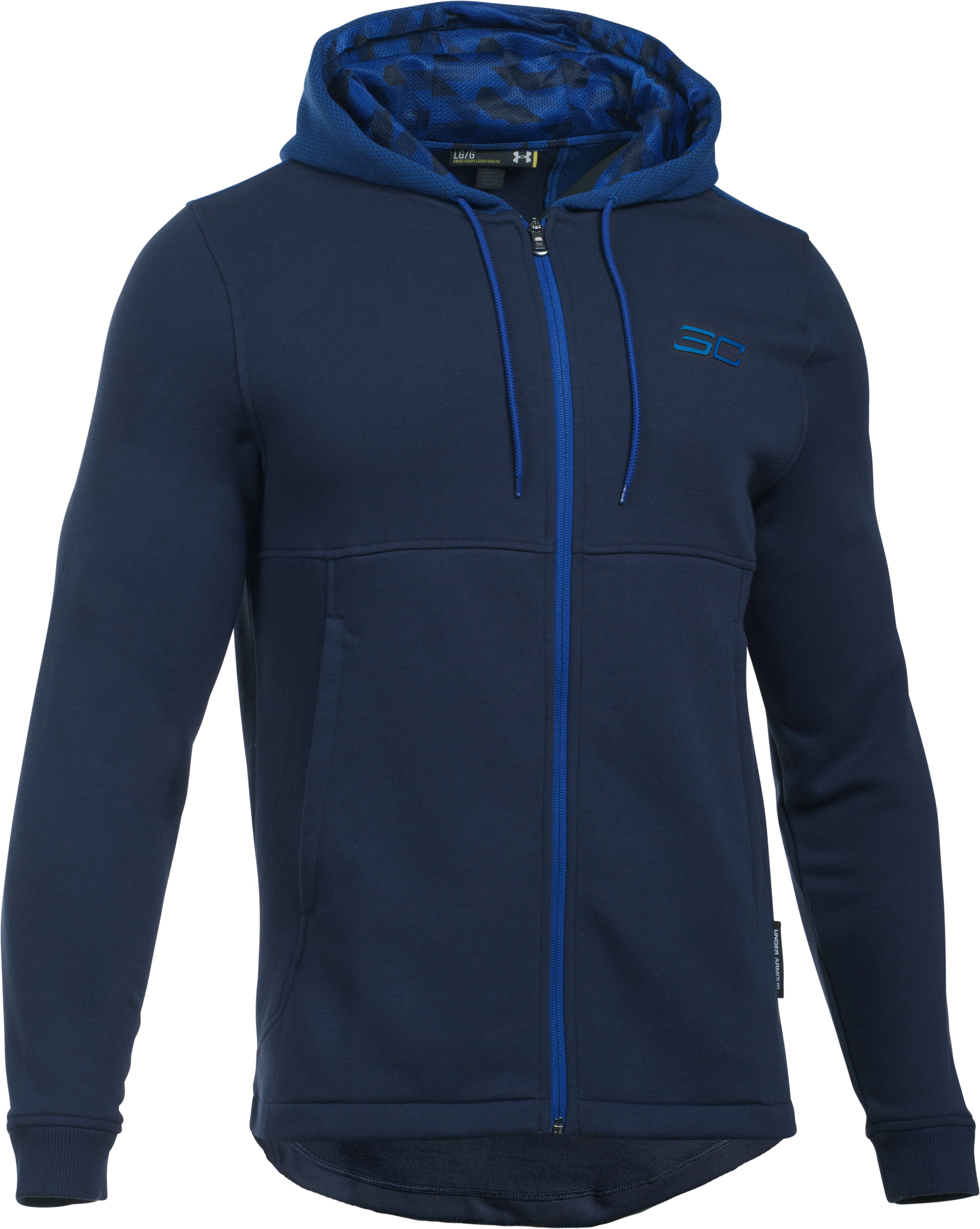 Men's SC30 Essentials Full Zip Hoodie, Midnight Navy,