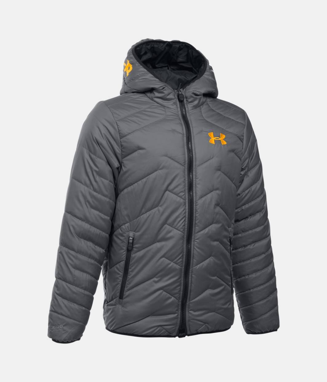boys 39 coldgear reactor hooded jacket under armour us. Black Bedroom Furniture Sets. Home Design Ideas