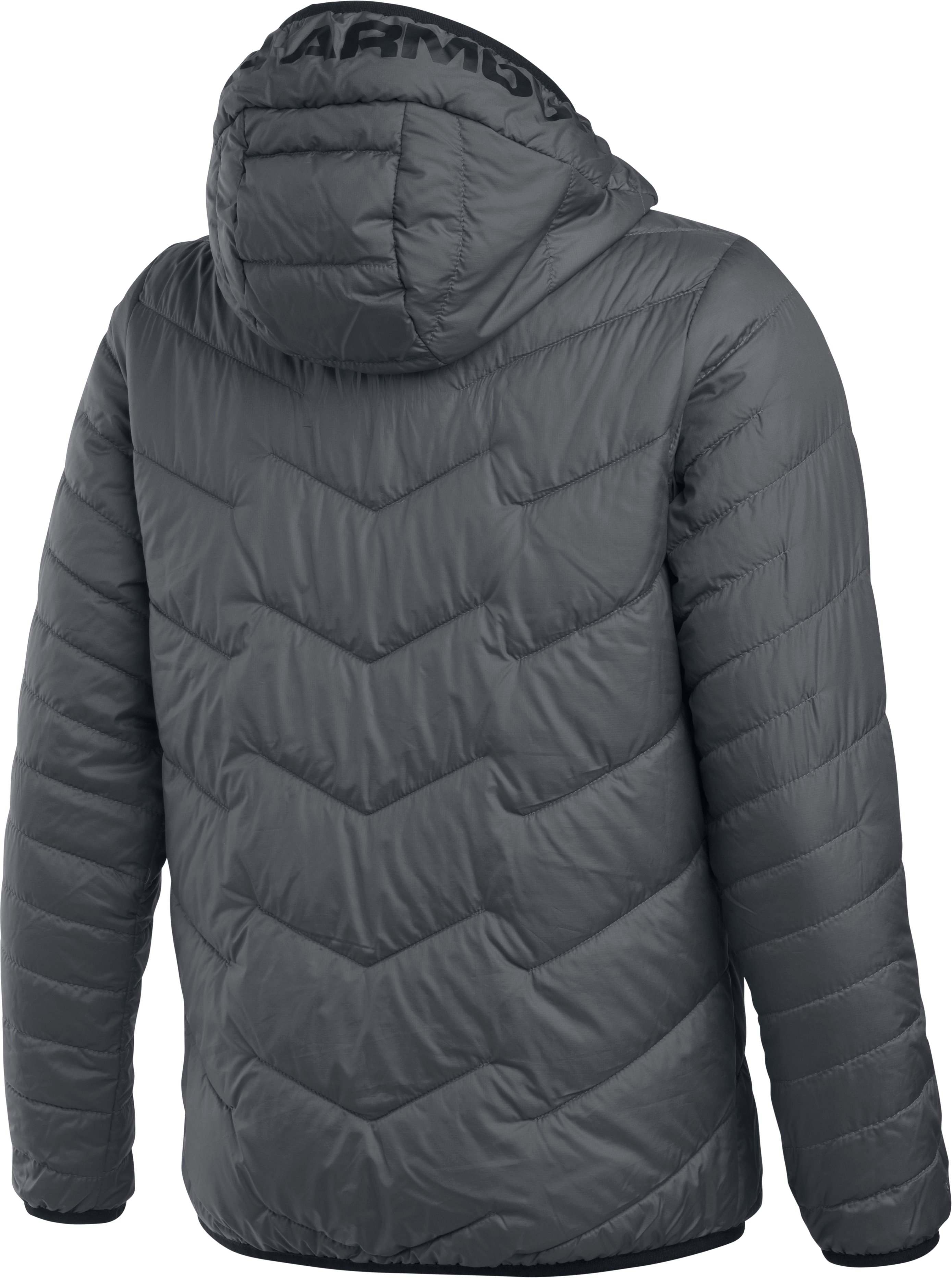 Boys' ColdGear® Reactor Hooded Jacket, Graphite,