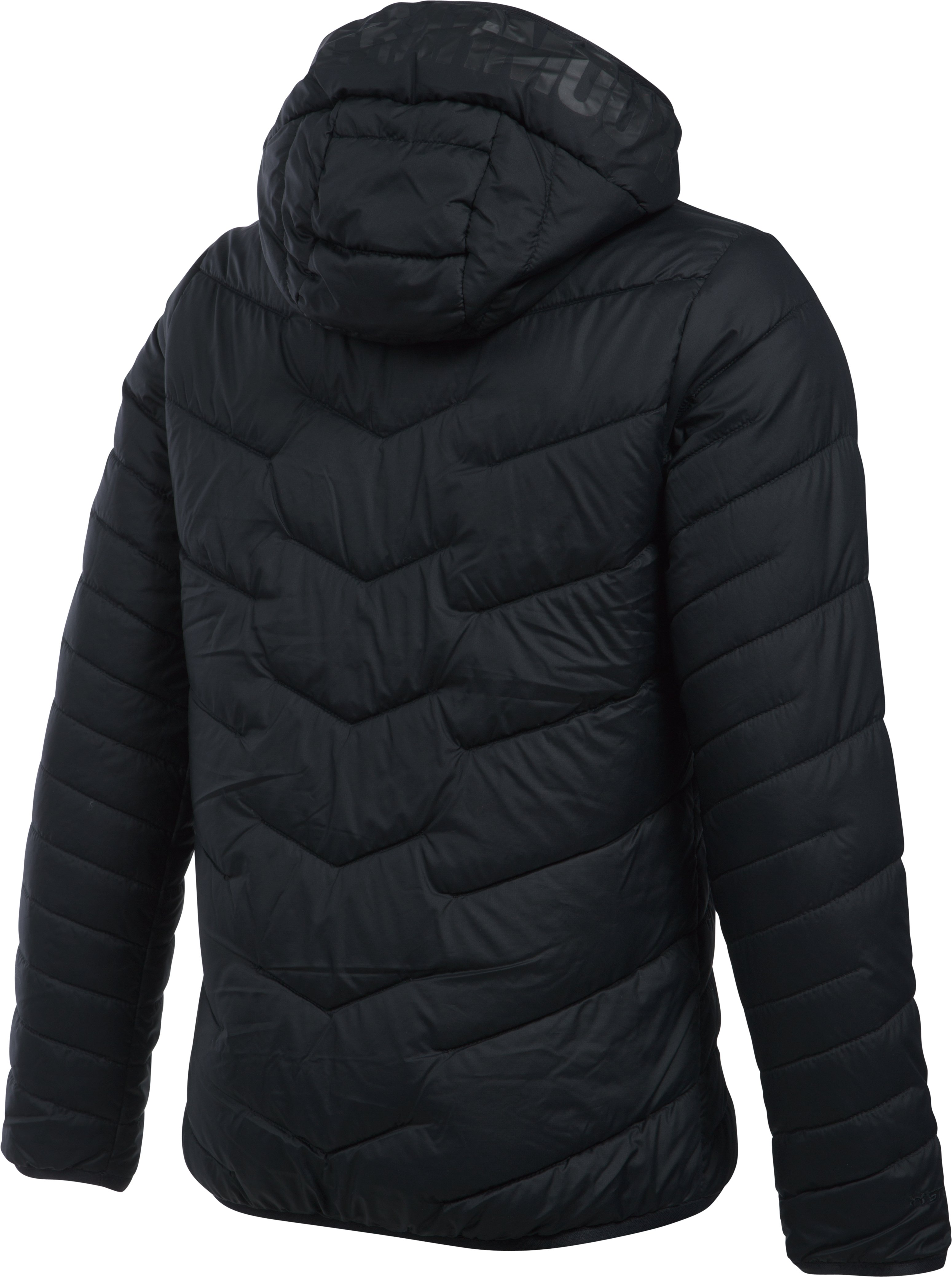 Girls' ColdGear® Reactor Hooded Jacket, Black ,