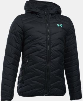 New Arrival  Girls' UA ColdGear® Reactor Hooded Jacket LIMITED TIME: FREE SHIPPING 3 Colors $144.99