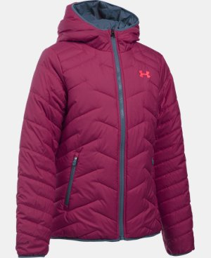 New Arrival Girls' UA ColdGear® Reactor Hooded Jacket  1 Color $124.99
