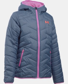 New Arrival  Girls' UA ColdGear® Reactor Hooded Jacket LIMITED TIME: FREE SHIPPING 1 Color $144.99