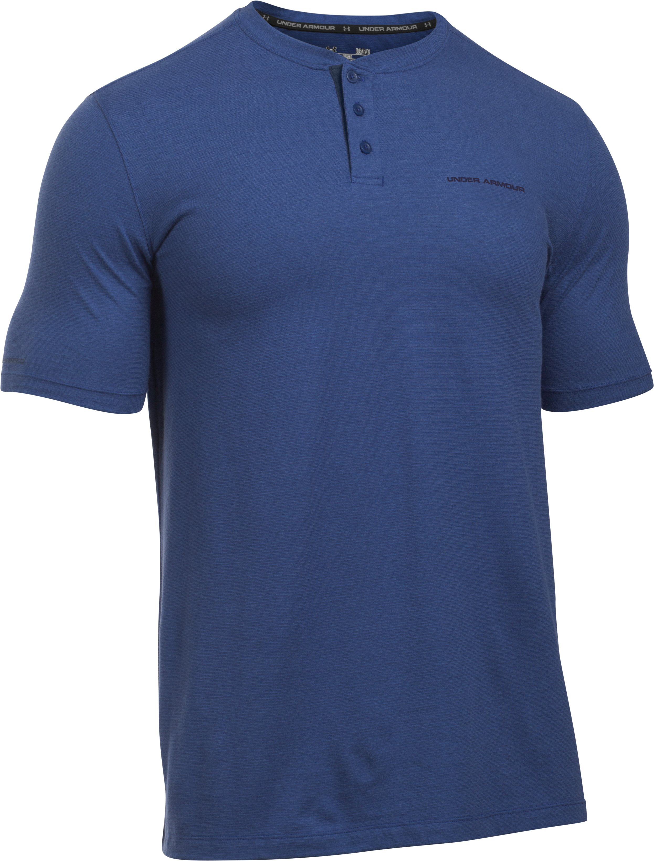 Men's Charged Cotton® Henley T-Shirt , HERON, undefined