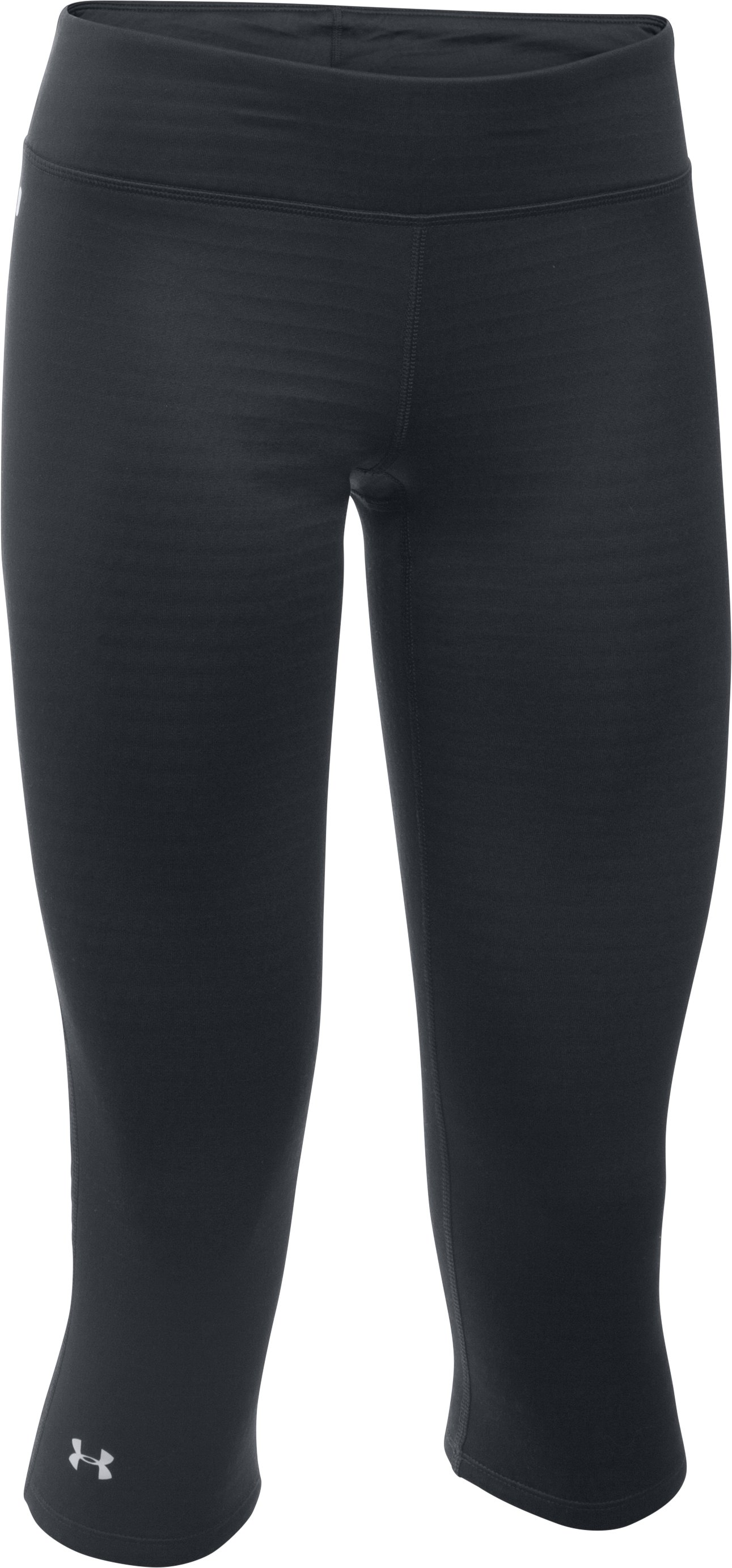 Women's UA Base™ 2.0 ¾ Leggings, Black , undefined
