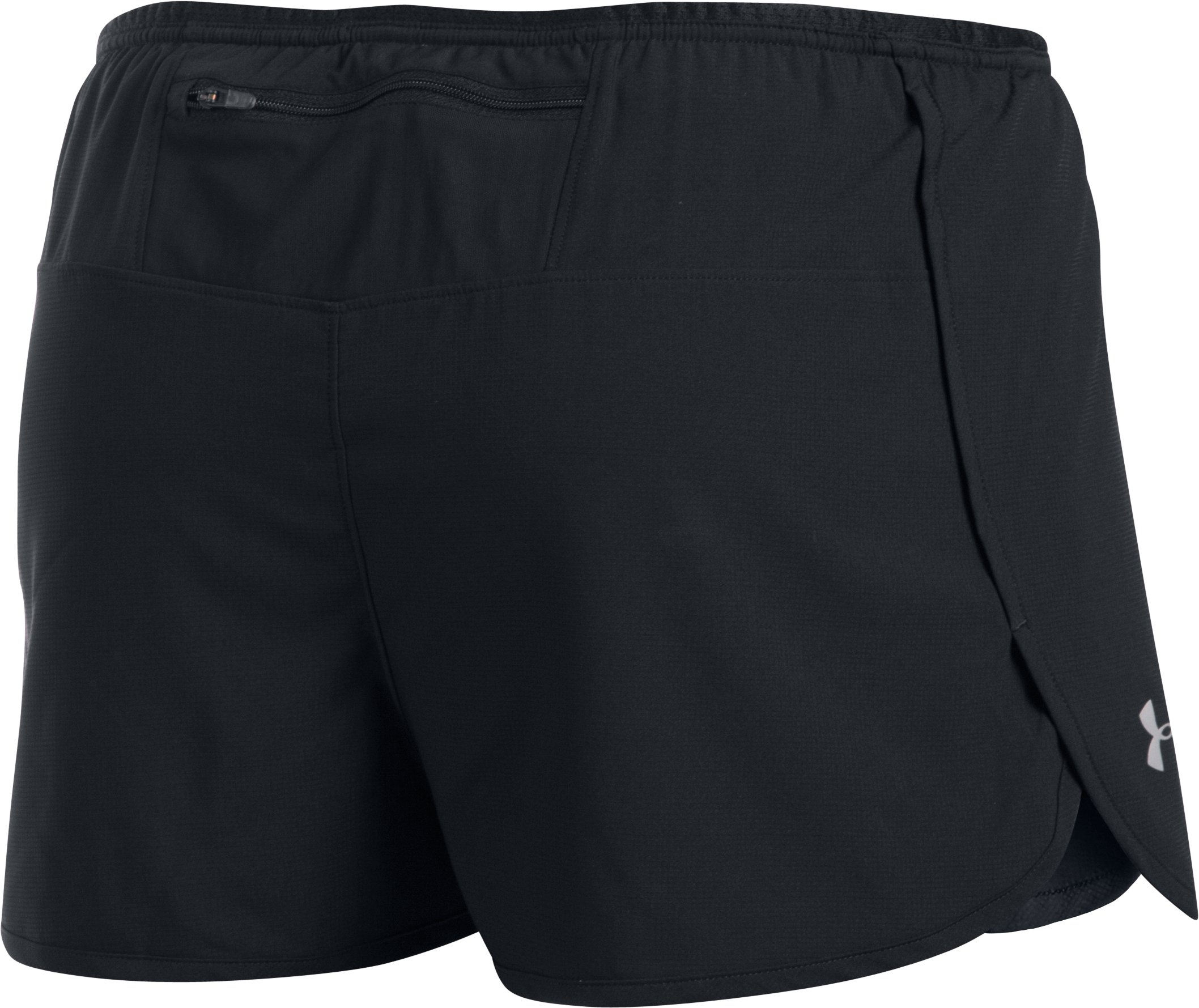Men's UA Performance Run Split Shorts, Black ,