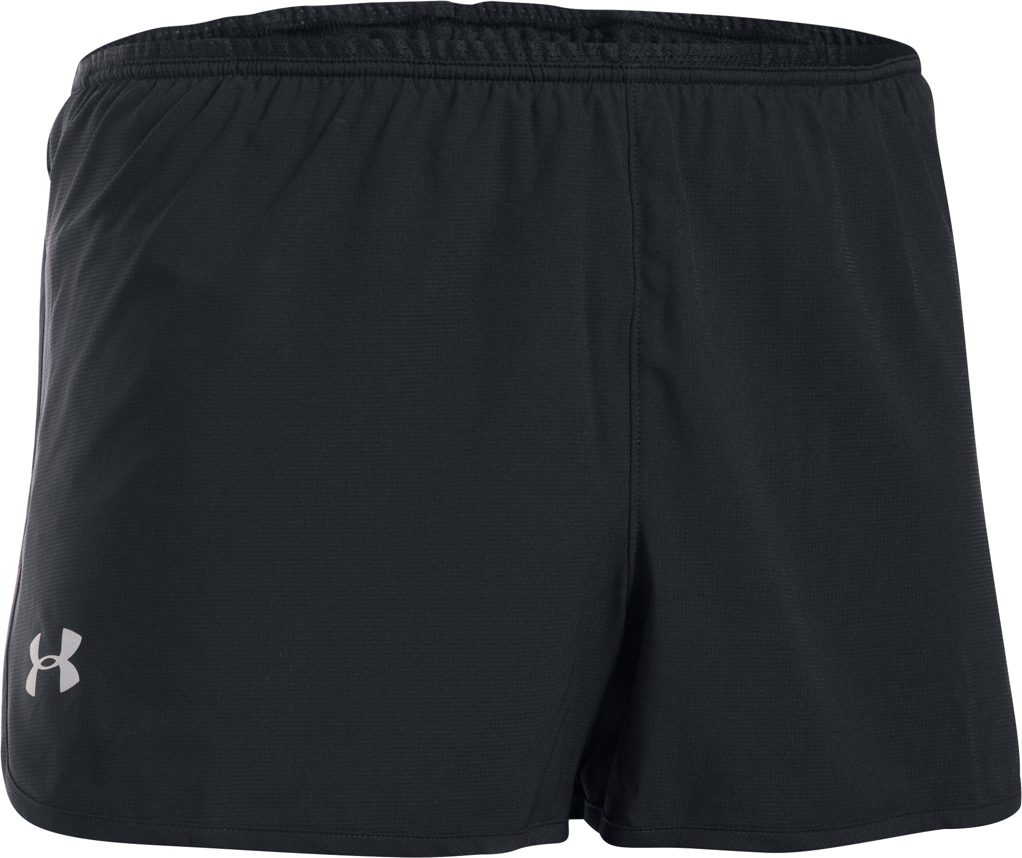 Men's UA Performance Run Split Shorts, Black