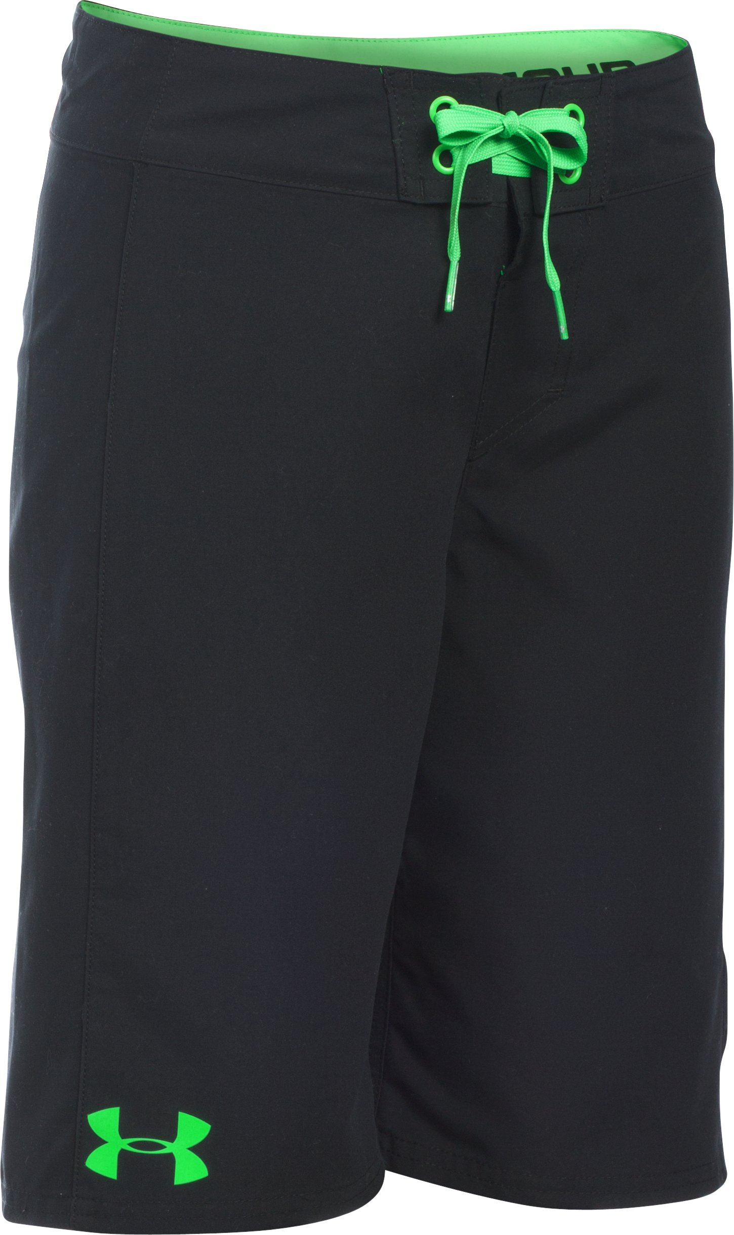 Boys' UA Hiit Boardshorts, Black ,