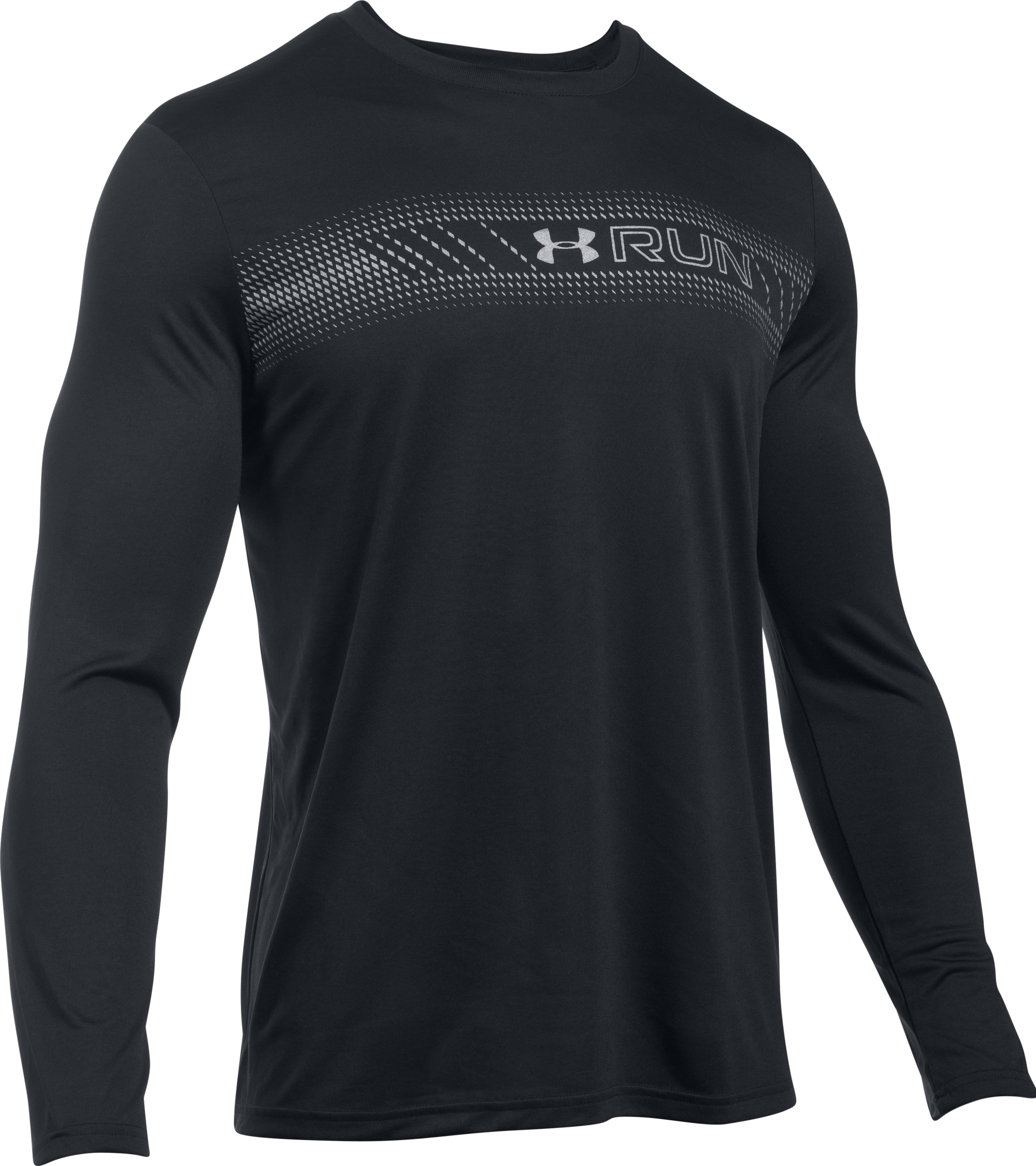 Men's UA Run T-Shirt, Black ,