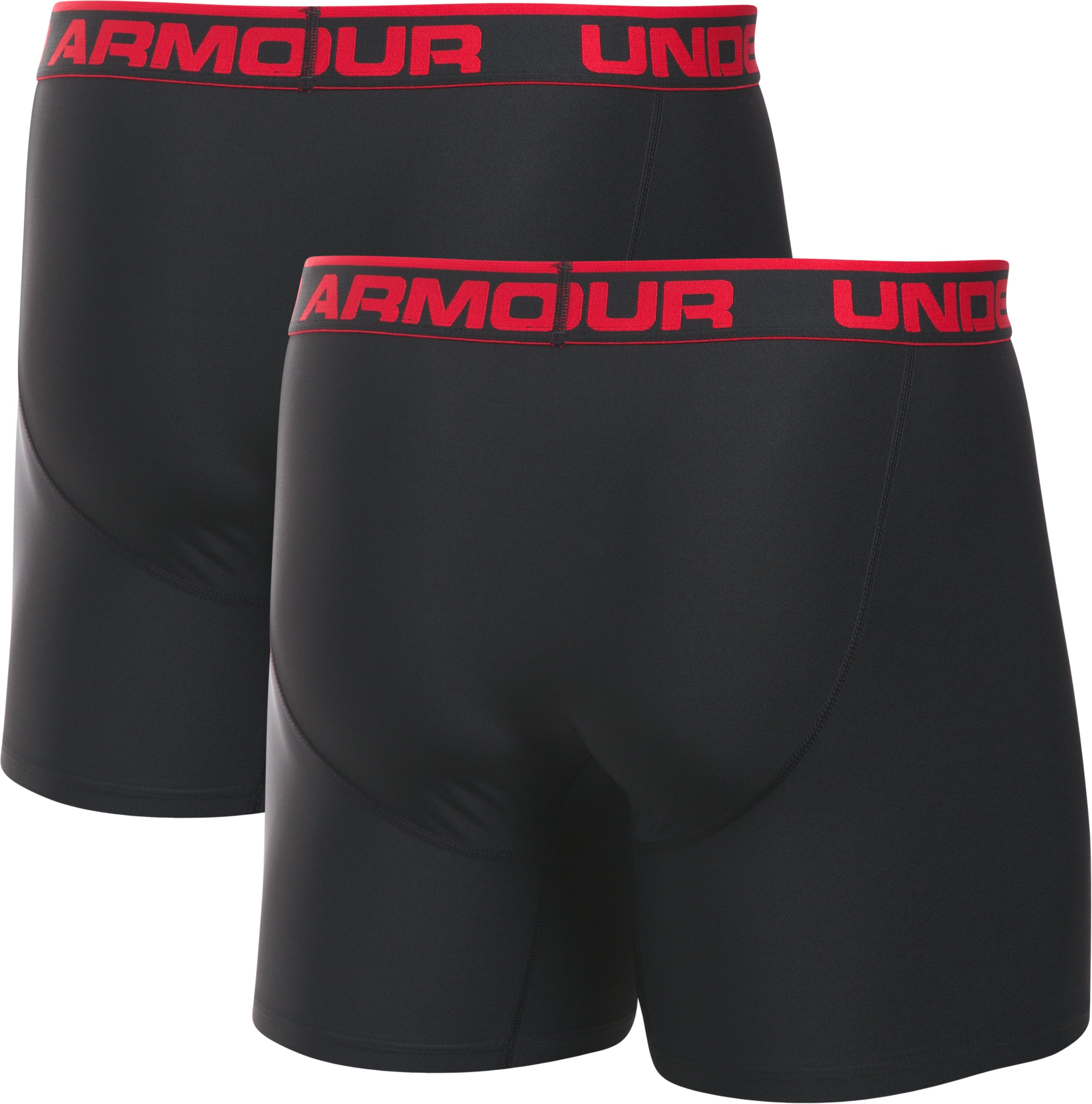 "Men's UA Original Series 6"" Boxerjock® – 2-Pack, Black ,"