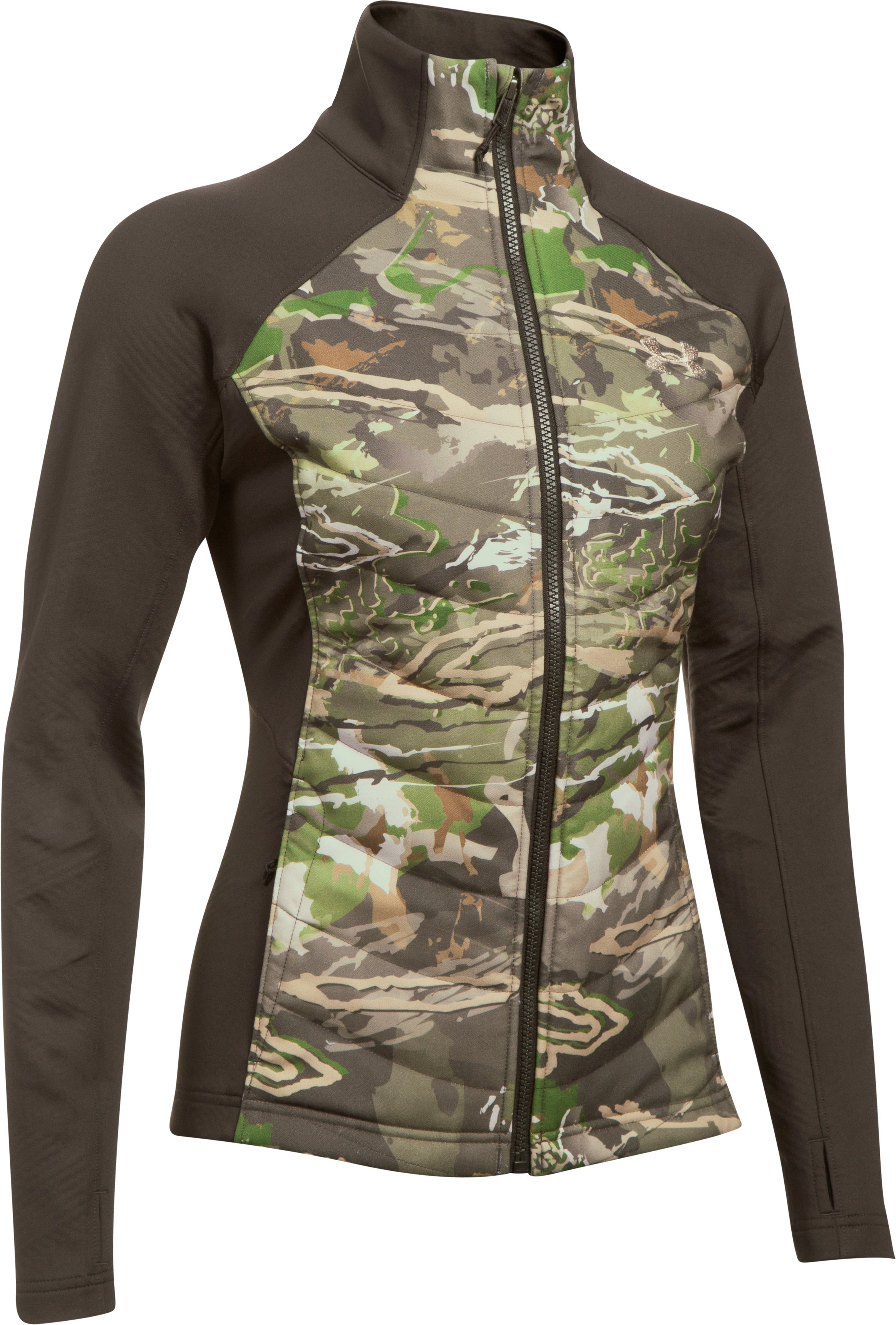 Women's UA Base Hybrid Jacket, RIDGE REAPER® FOREST,