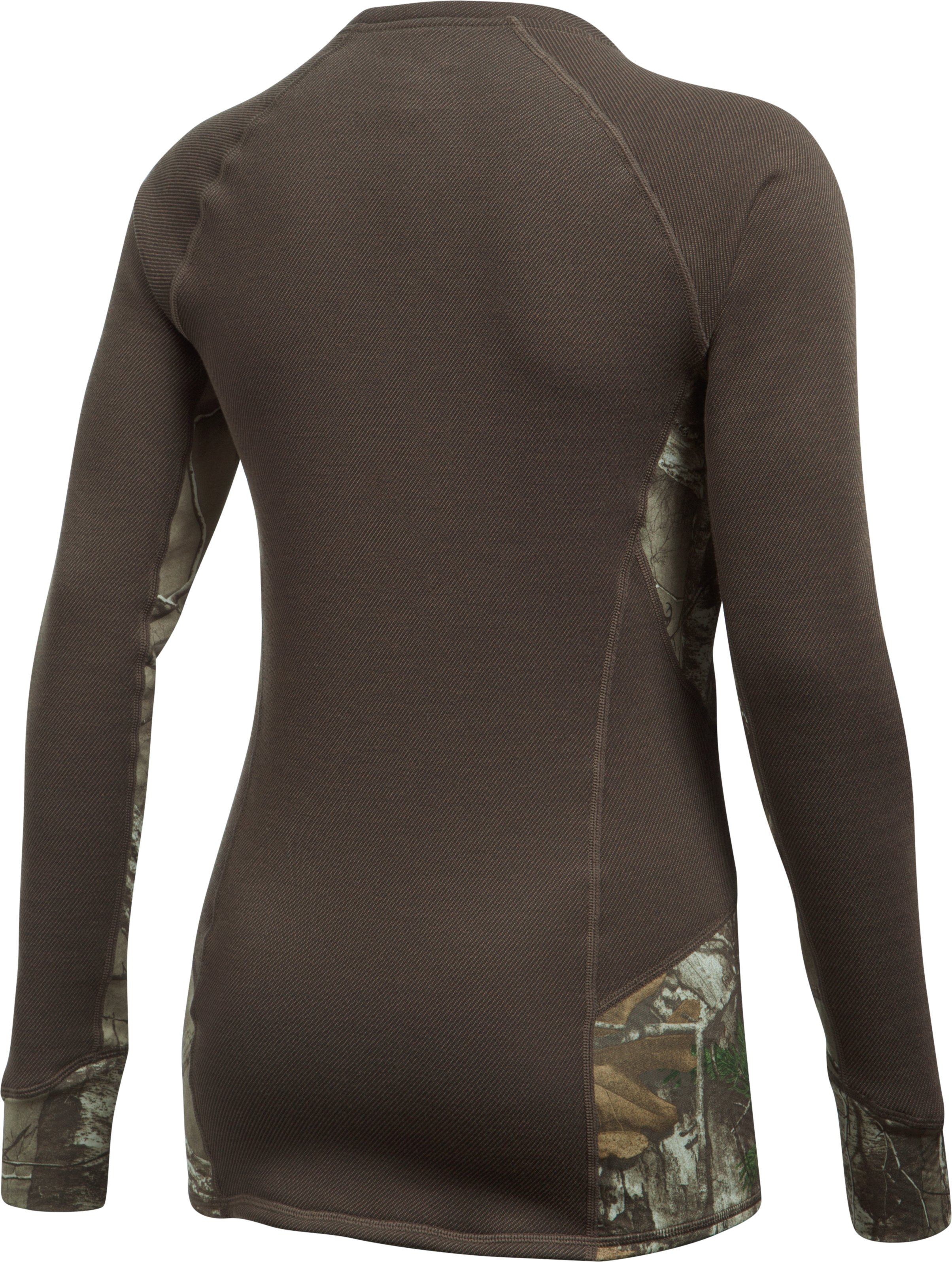 Women's UA Extreme Base Long Sleeve, MAVERICK BROWN