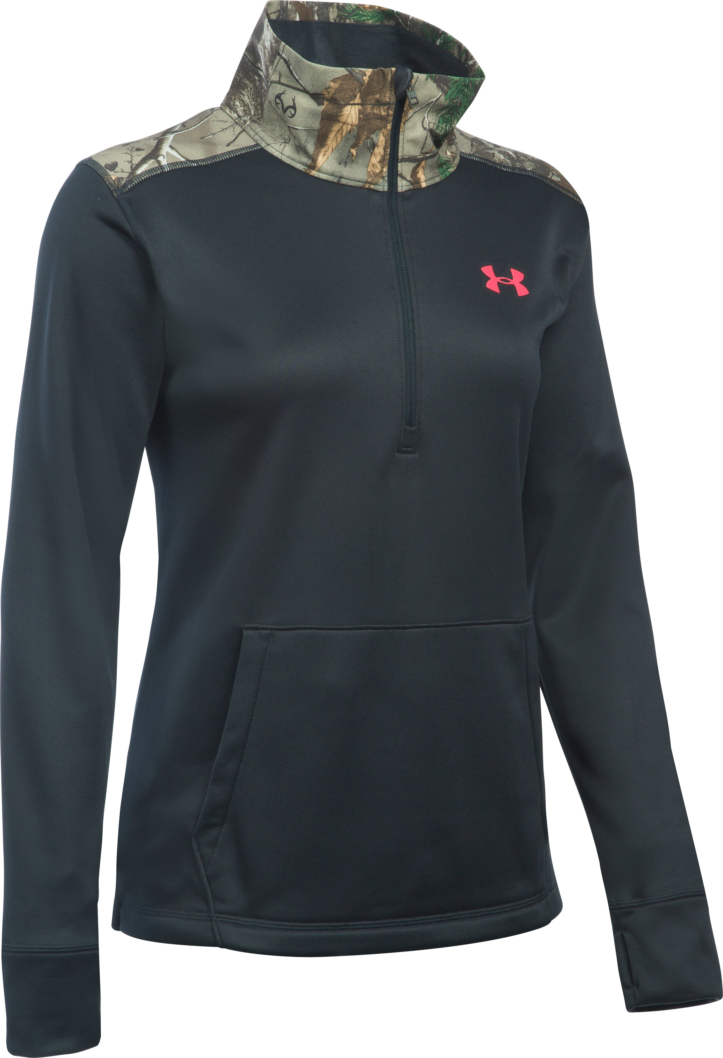 Women's UA Storm Caliber 1/2 Zip, ANTHRACITE, undefined