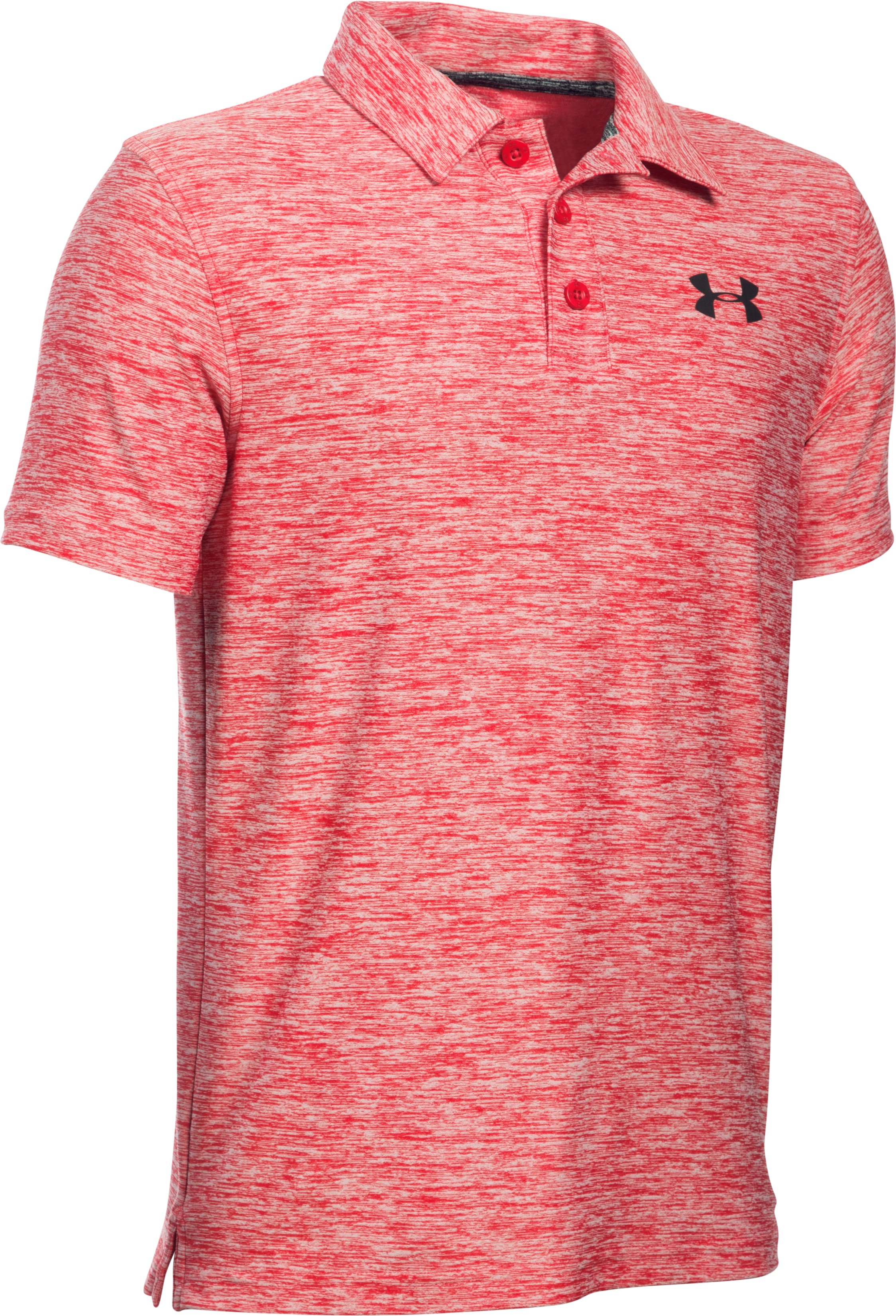 Boys' UA Playoff Polo, Red,