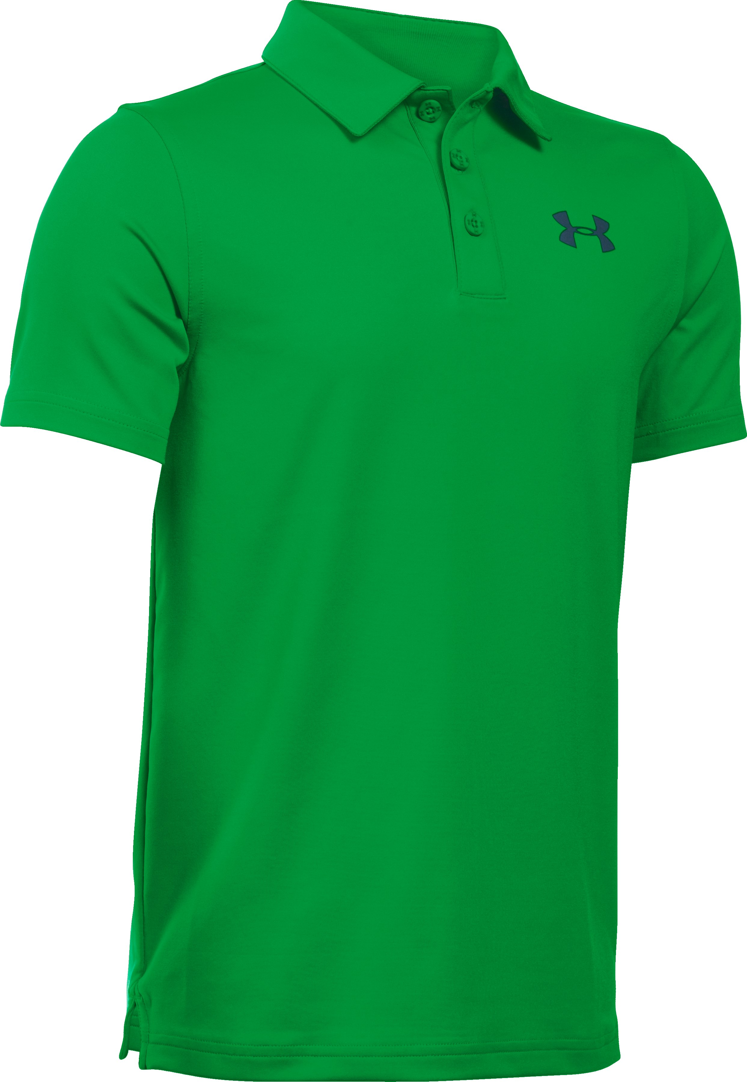 Boys' UA Playoff Polo, PUTTING GREEN, undefined