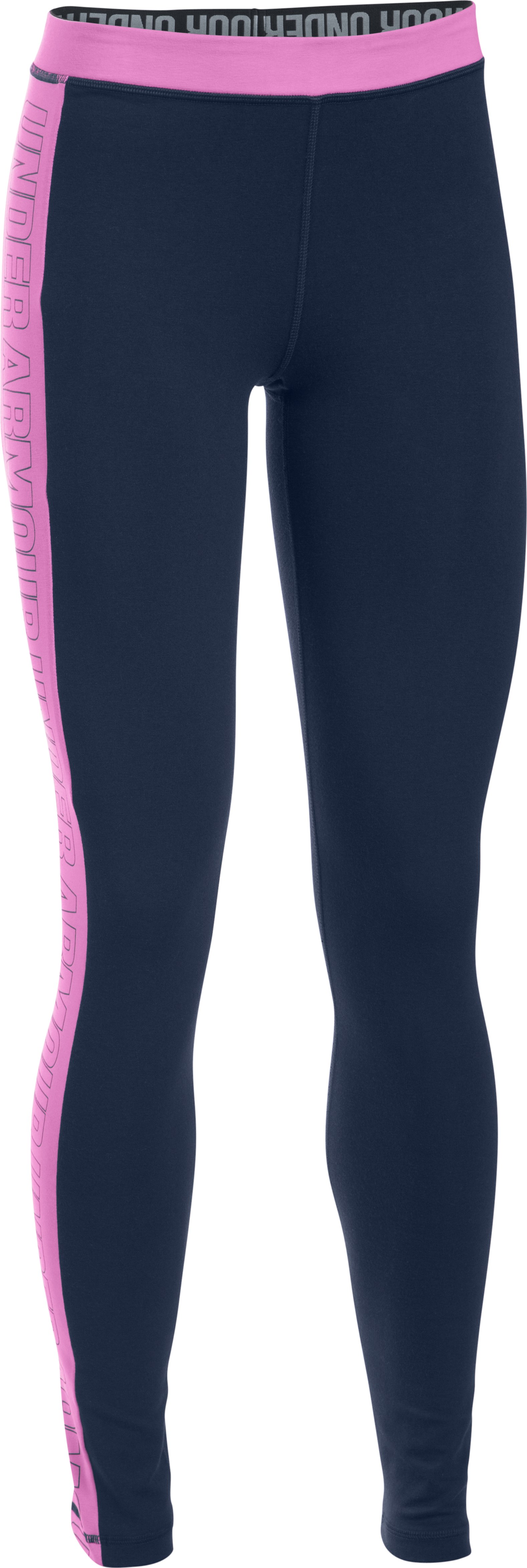 Women's UA Favorite Split Word Mark Leggings, Midnight Navy