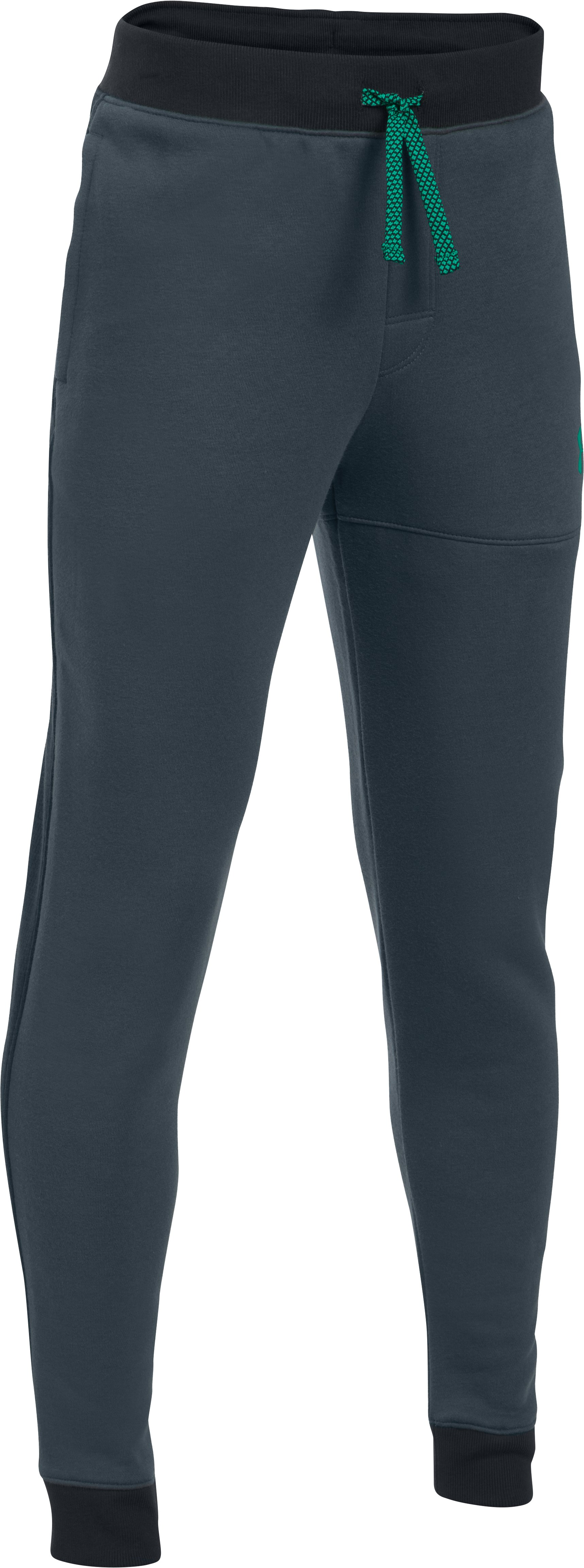 Boys' UA Titan Fleece Pants, STEALTH GRAY,