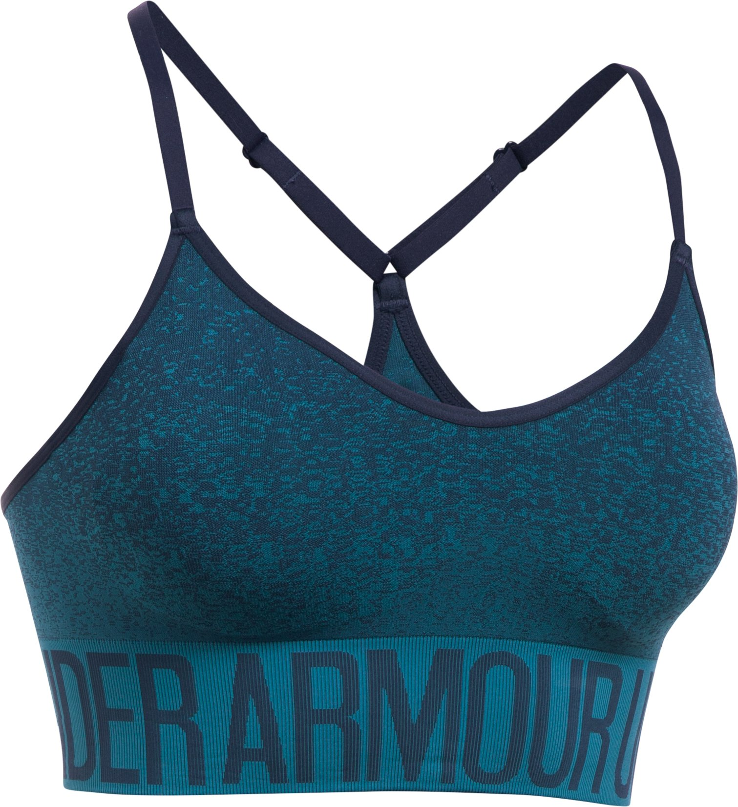 Women's Armour® Seamless Ombre Printed Sports Bra, Midnight Navy