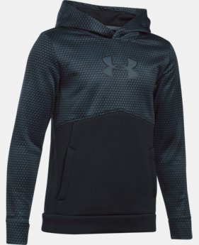 Boys' UA Storm Armour® Fleece Mid Logo Hoodie  2 Colors $23.24
