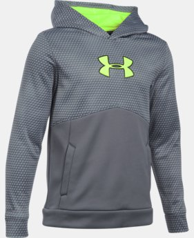 Boys' UA Storm Armour® Fleece Mid Logo Hoodie  1 Color $23.24