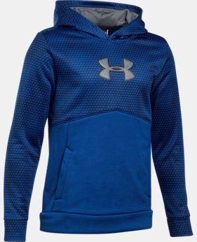 Boys' UA Storm Armour® Fleece Mid Logo Hoodie  2 Colors $28.49 to $30.99