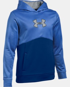 Boys' UA Storm Armour® Fleece Mid Logo Hoodie   $59.99