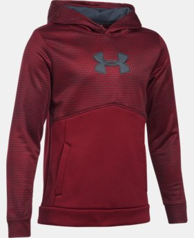 New Arrival Boys' UA Storm Armour® Fleece Mid Logo Hoodie   $49.99