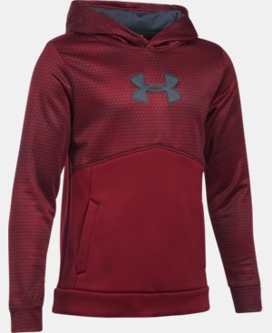 New to Outlet Boys' UA Storm Armour® Fleece Mid Logo Hoodie LIMITED TIME OFFER + FREE U.S. SHIPPING 8 Colors $29.99