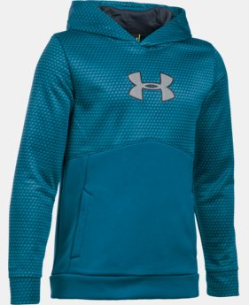 Boys' UA Storm Armour® Fleece Mid Logo Hoodie  2 Colors $37.99 to $41.99