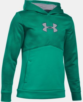 Boys' UA Storm Armour® Fleece Mid Logo Hoodie   $23.24