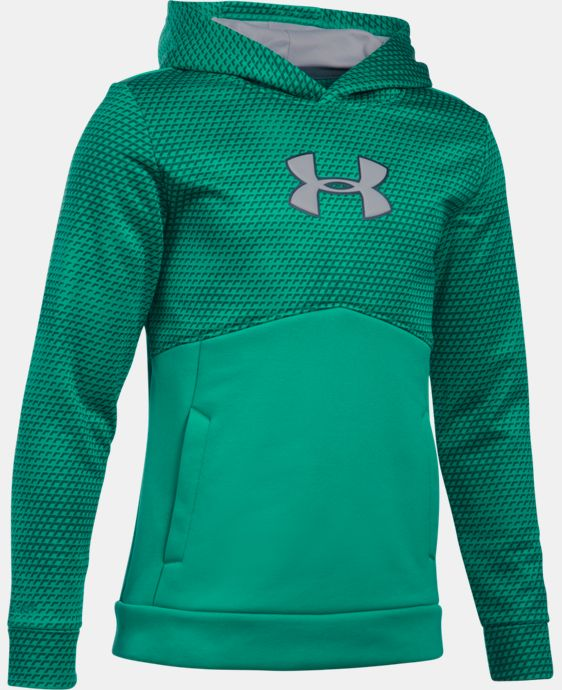 Boys' UA Storm Armour® Fleece Mid Logo Hoodie LIMITED TIME: FREE SHIPPING 2 Colors $44.99