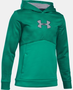 Boys' UA Storm Armour® Fleece Mid Logo Hoodie  5 Colors $44.99
