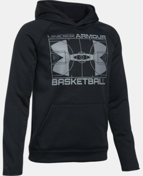 New Arrival Boys' UA Storm Armour® Fleece Baketball Hoodie  1 Color $37.99