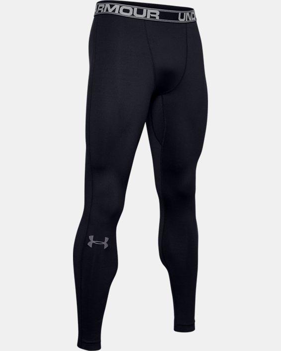Men's ColdGear® Armour Leggings, Black, pdpMainDesktop image number 3