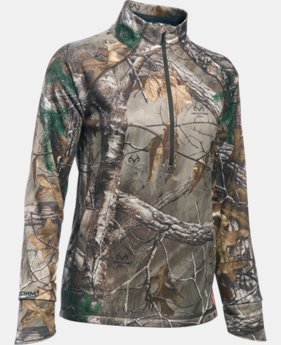 New Arrival Women's  UA Camo 1/2 Zip  1  Color Available $79.99