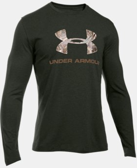 Men's UA Camo Fill Logo LS T-Shirt