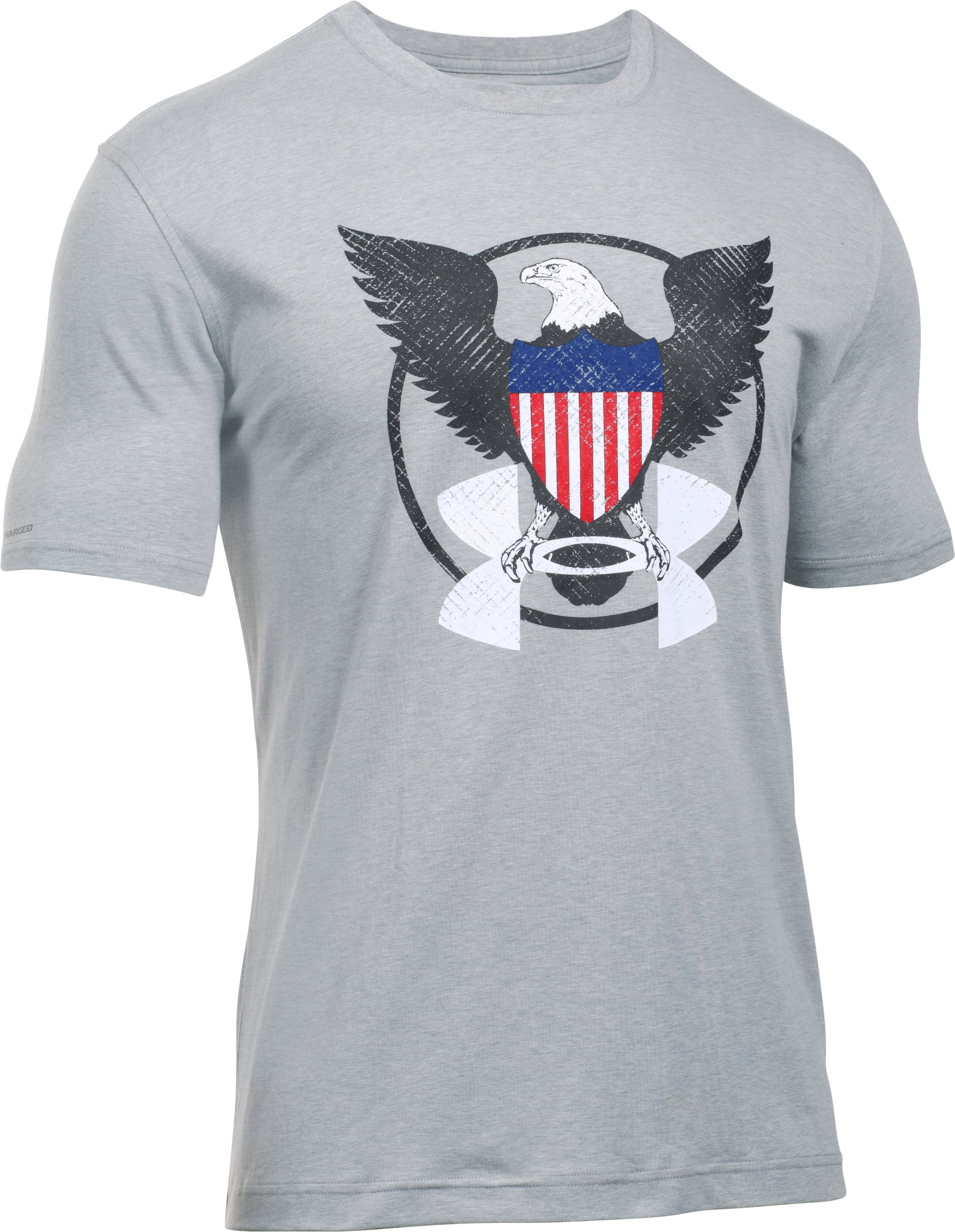 Men's UA Freedom USA Eagle T-Shirt, True Gray Heather,