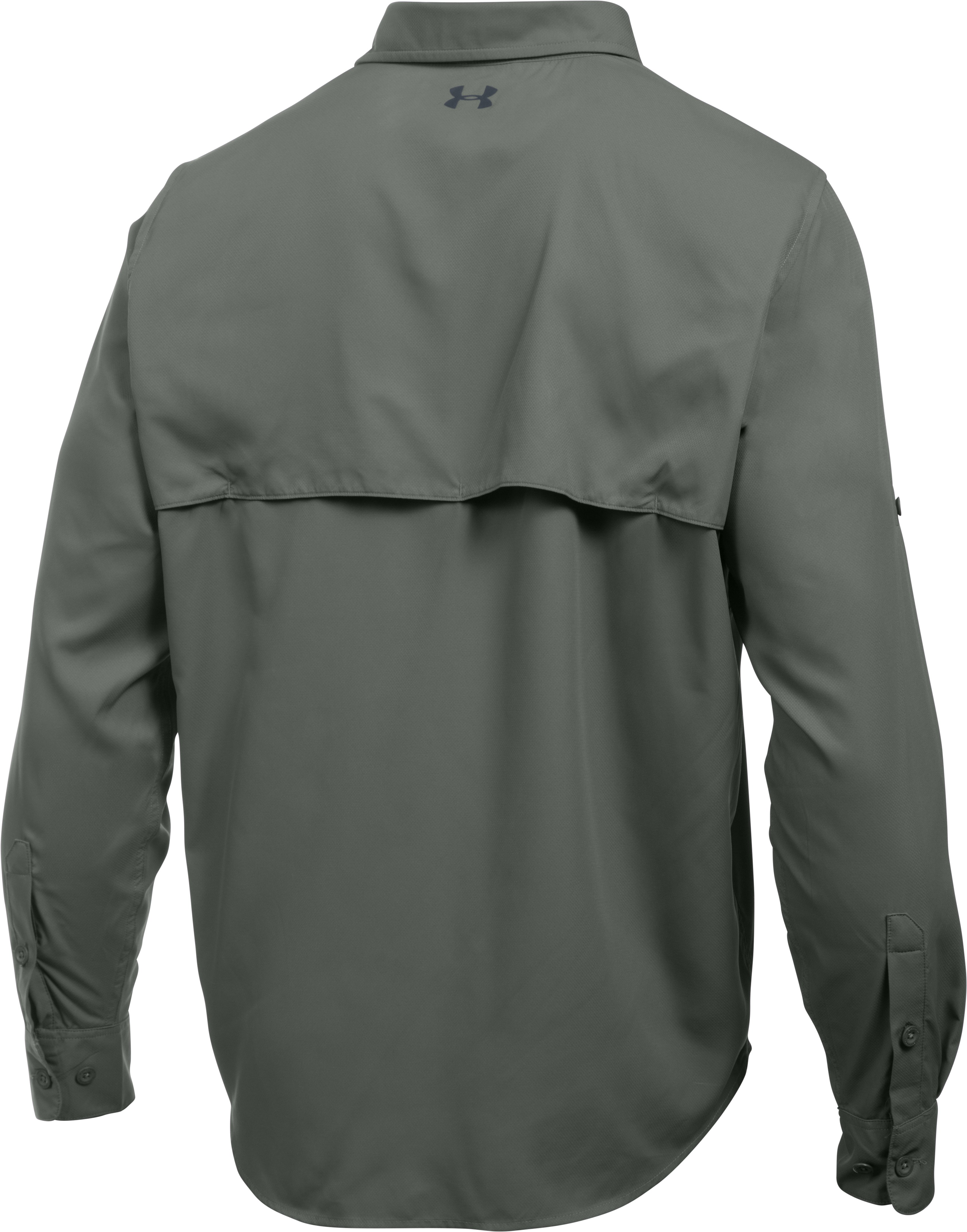 Men's UA Fish Stalker Long Sleeve, MOSSY TAUPE
