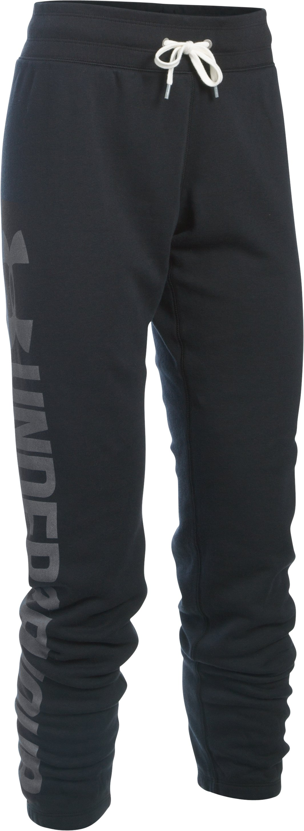 Women's UA Favorite Fleece Pants, Black , undefined