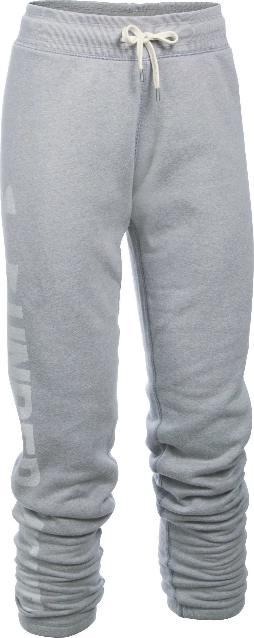Women's UA Favorite Fleece Pants, True Gray Heather