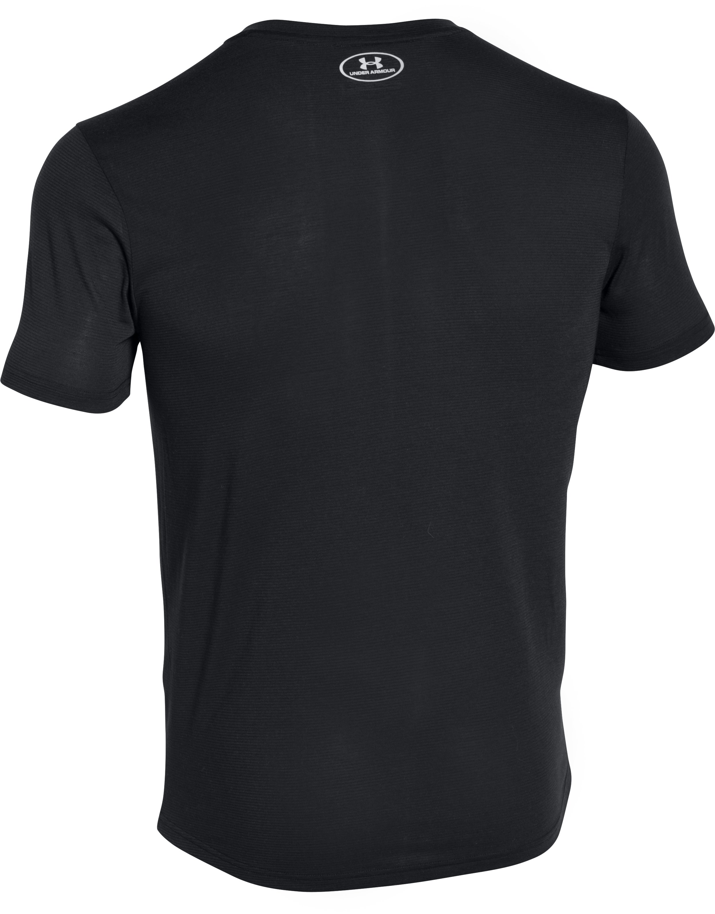Men's UA Threadborne Streaker V-Neck, Black ,