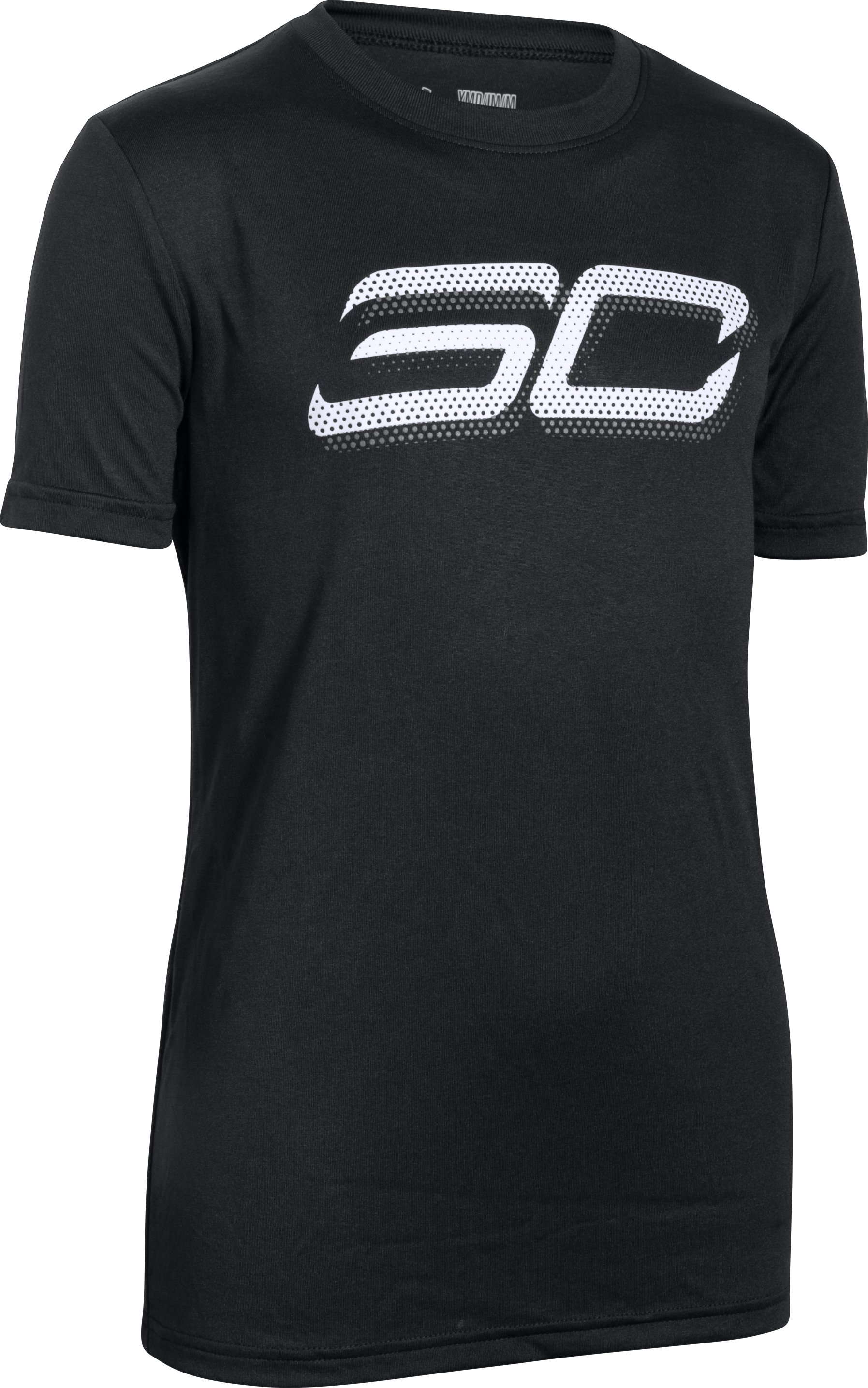 Boys' SC30 Branded T-Shirt, Black
