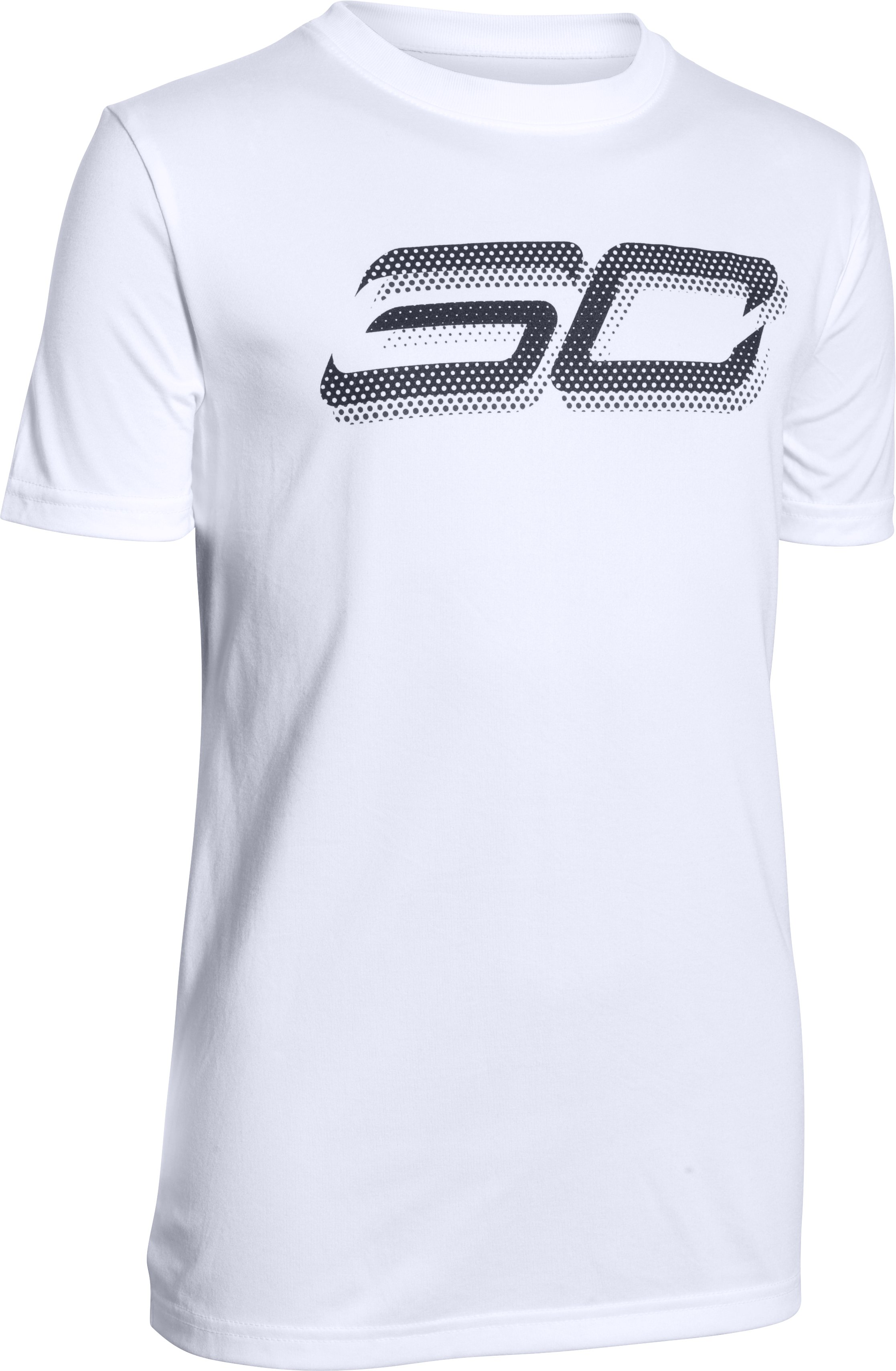 Boys' SC30 Branded T-Shirt, White, zoomed image