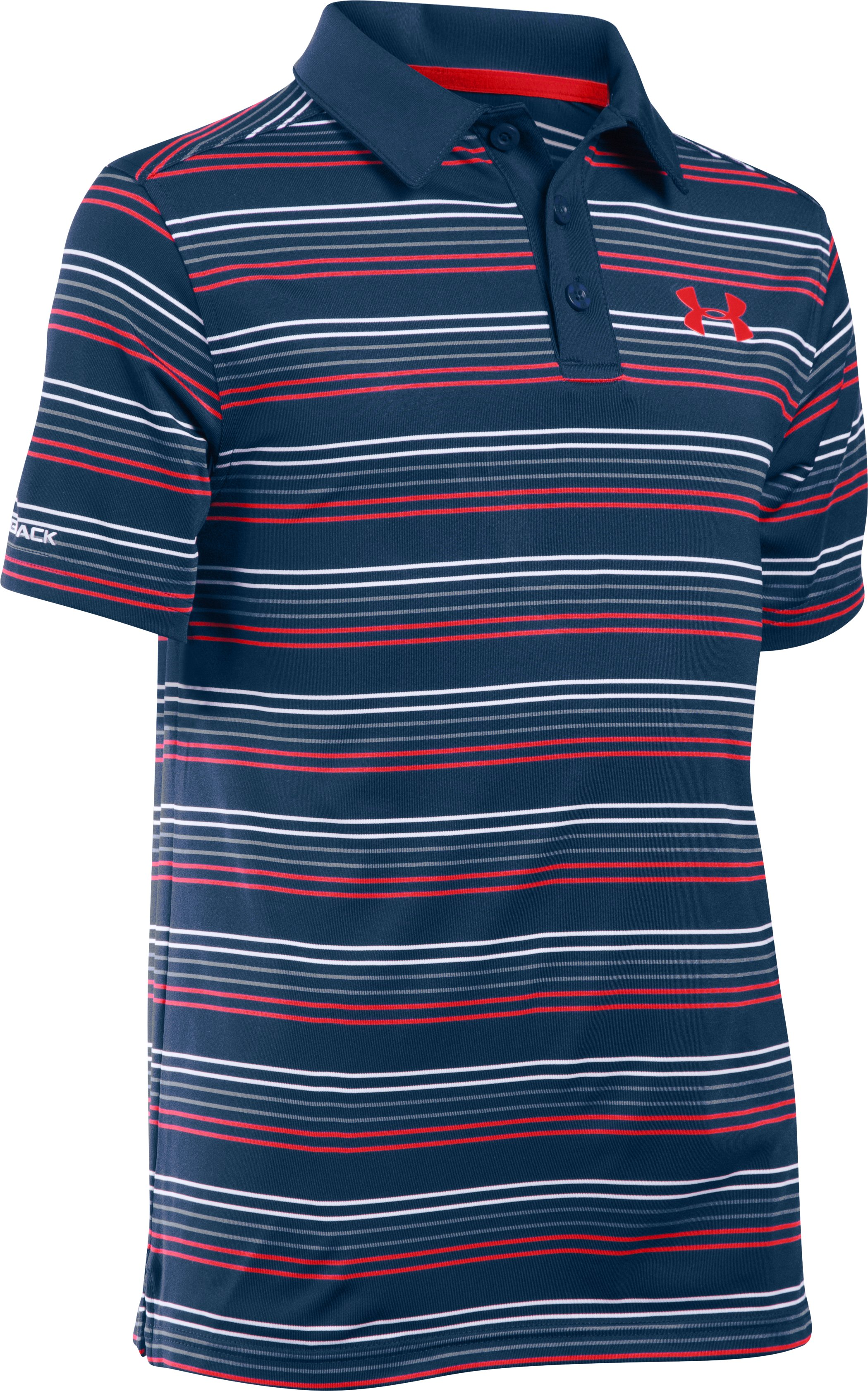 Boys' UA coldblack® Draw Polo Shirt, BLACKOUT NAVY
