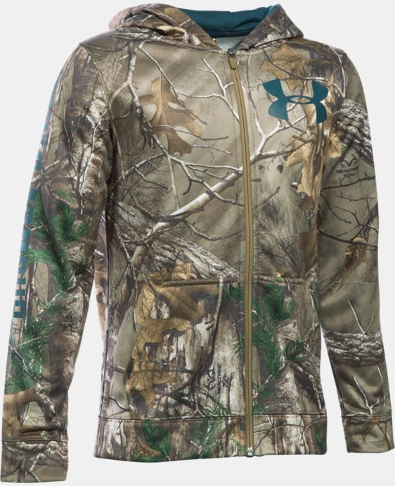 Boys' UA Storm Armour® Fleece Camo Full Zip Hoodie LIMITED TIME OFFER + FREE U.S. SHIPPING 3 Colors $48.74