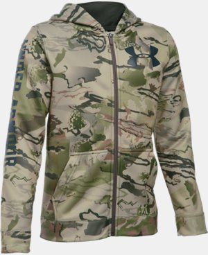 Boys' UA Storm Armour® Fleece Camo Full Zip Hoodie  2 Colors $48.99