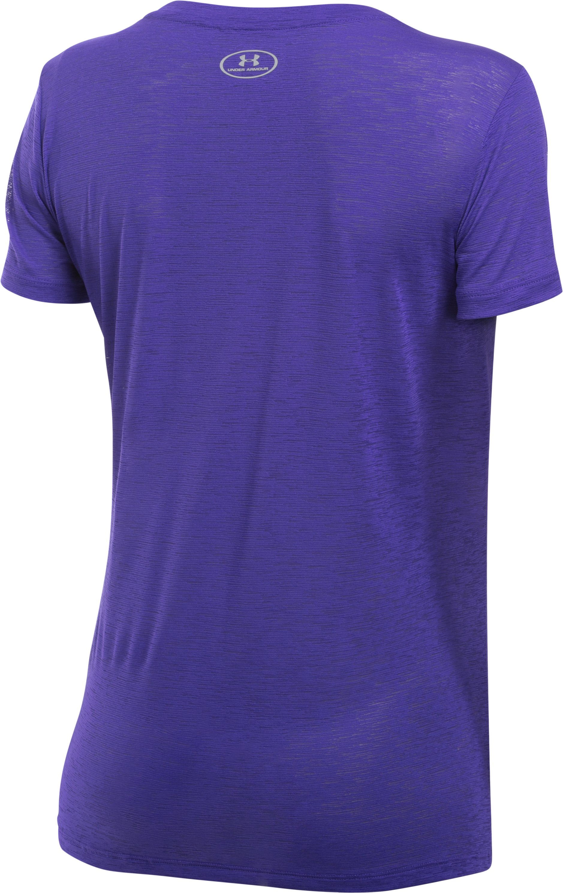Women's UA Tech™ Slub T-Shirt, DEEP ORCHID,
