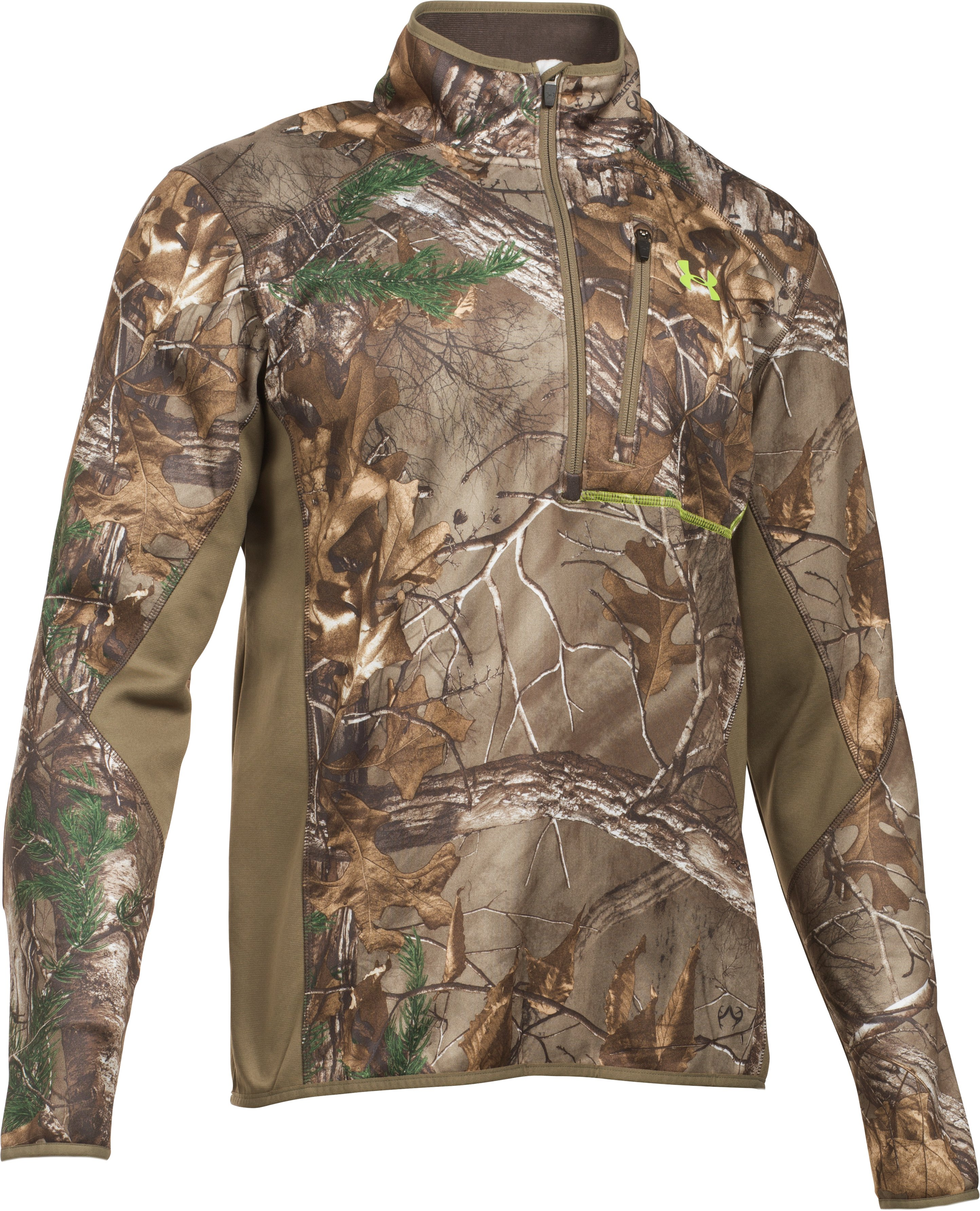 Men's UA Storm Scent Control Fleece ¼ Zip, REALTREE AP-XTRA, undefined