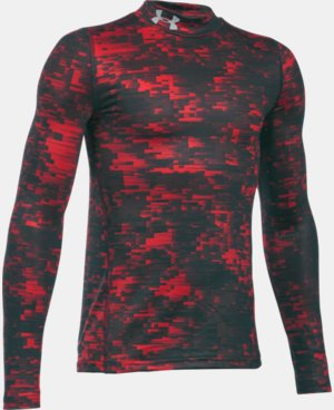 Boys' UA ColdGear® Armour Up Printed Mock LIMITED TIME OFFER + FREE U.S. SHIPPING  $33.74